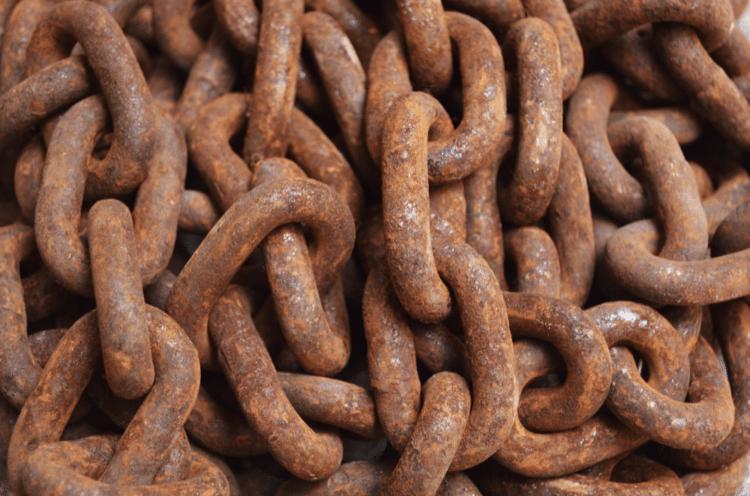 Zrezivělé řetězy